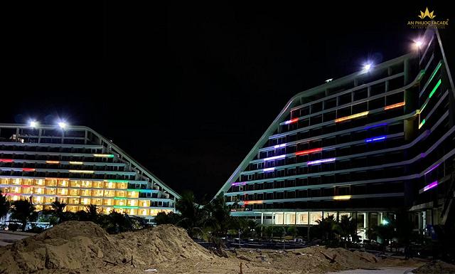 Dự án chiếu sáng mặt đứng công trình FLC Grand Hotel Quy Nhơn