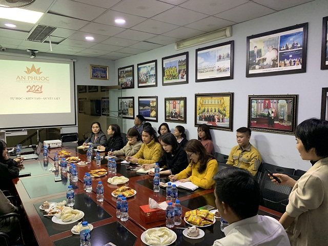 Đào tạo văn hóa nội bộ cho toàn thể CBNV năm 2021